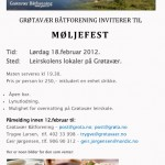 Lørdag 7.juli 2012 arrangerer GBF basar og fest på brygga på Grøtavær.